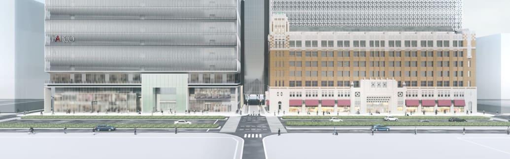 (左から)心斎橋パルコ、大丸心斎橋店のイメージ画像
