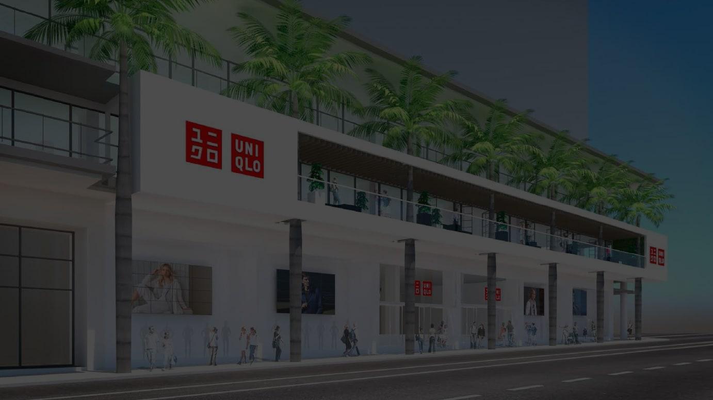 ユニクロ マニラ グローバル旗艦店 完成予想図