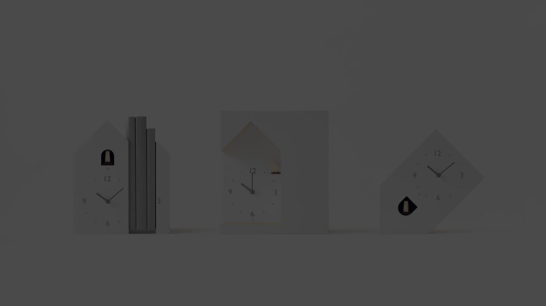 nendoがデザインした三角屋根の鳩時計