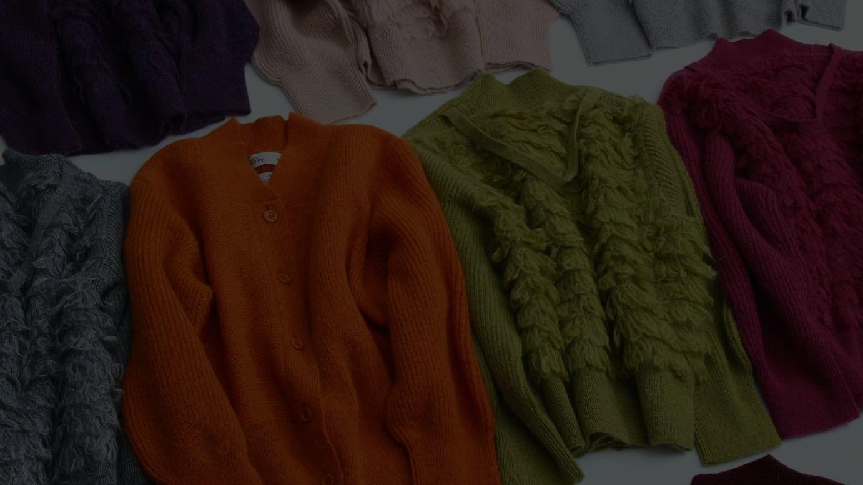 PASS THE BATON -Deadstock yarn mohair cardigan 2018-