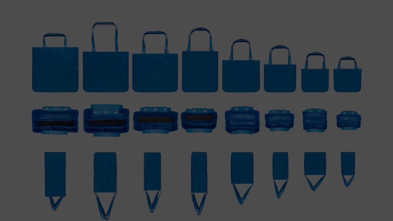 CHACOLI BLUE SHEET TOTE BAG