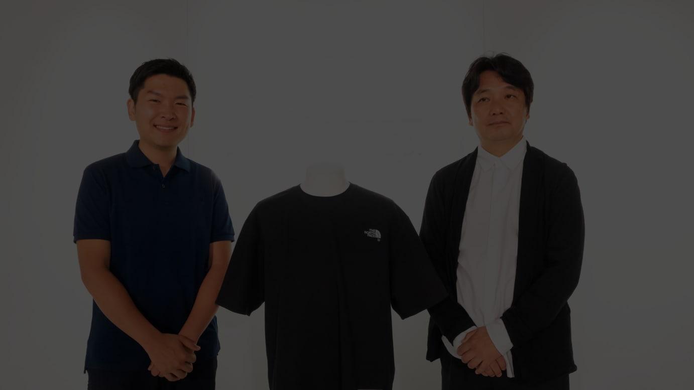 写真左から)スパイバー代表執行役 関山和秀、ゴールドウイン 副社長執行役員 渡辺貴生