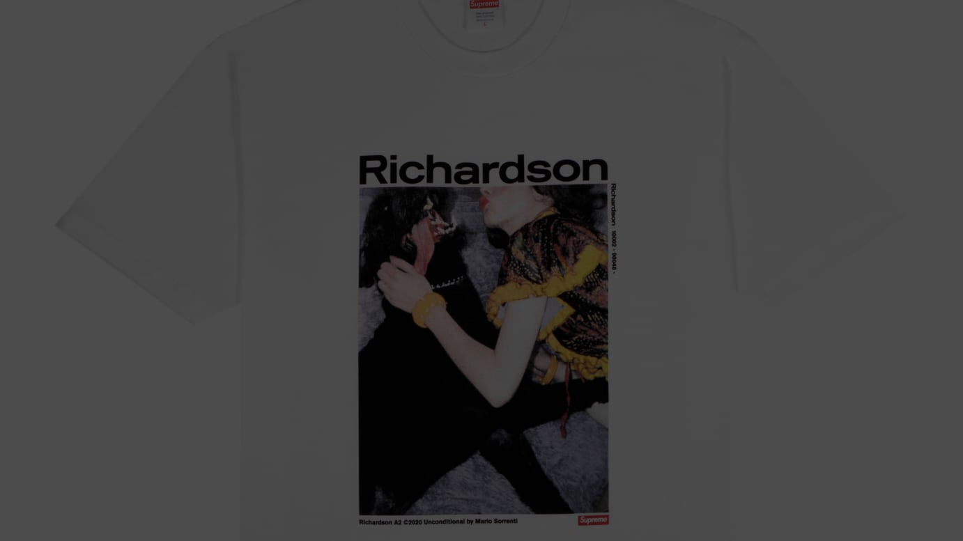 Richardson/Supreme Tee Model: Chloe Sevigny/Photographer: William Strobeck