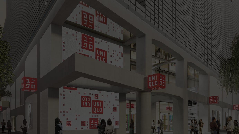 UNIQLO TOKYOの正面入り口(イメージ図)
