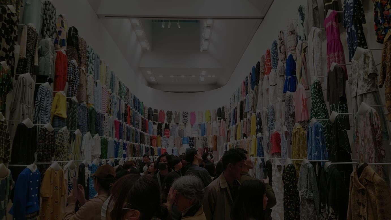 2019年に東京都現代美術館で開催された「ミナ ペルホネン/皆川明 つづく」 展