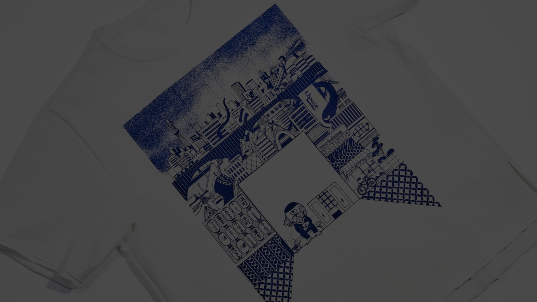 TOKYO DESIGN STUDIO New Balance × TAKAYO AKIYAMA コラボレーション Tシャツ