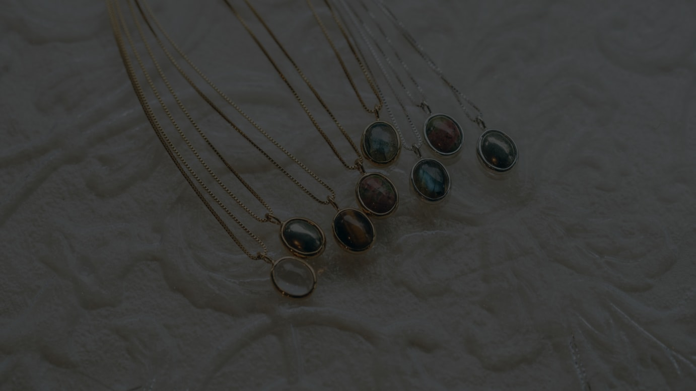 stone necklace series