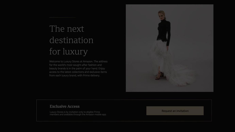 アマゾンが立ち上げた「Luxury Stores」より