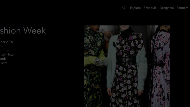 ロンドンファッションウィーク公式サイトより