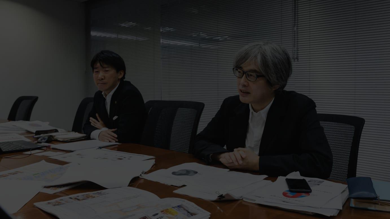 左:緒方道則 心斎橋パルコ準備室長、右:泉水隆 常務執行役員