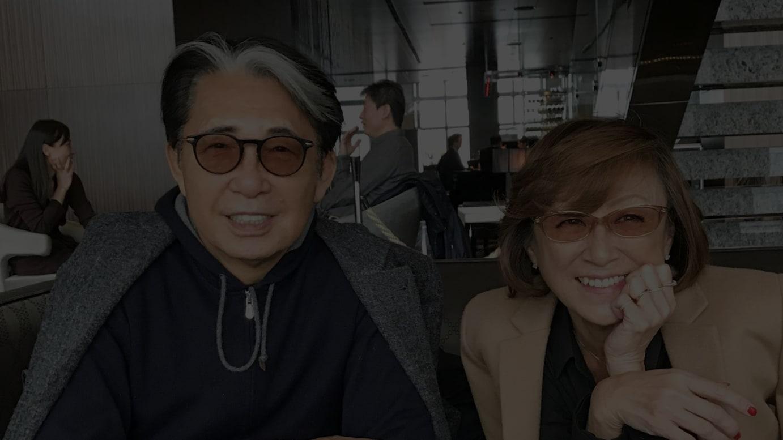 高田賢三と鈴木三月(筆者)、2019年7月 東京にて