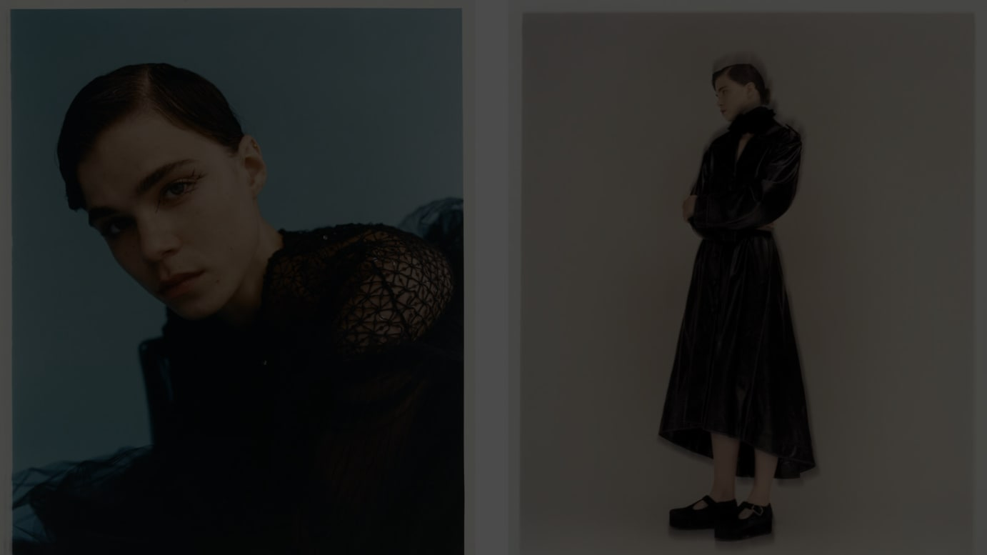 Top Photo:left - dress by HUISHAN ZHANG, right - dress and shoes by ERDEM