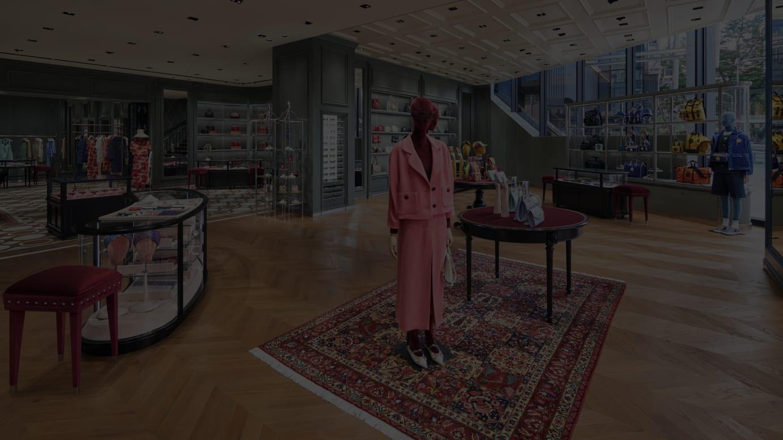 グッチ 渋谷 ミヤシタパーク 店内イメージ Courtesy of Gucci