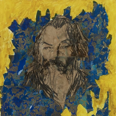 Taro Hakase/葉加瀬太郎 Brahms in Yellow 2015 Acrylic painting collage on canvas