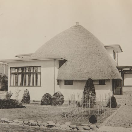 堀口捨己 紫烟荘 1928(昭和3)年 Image by 『紫烟荘図集』(洪洋社)所収、東京都市大学図書館