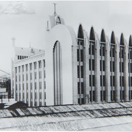 山田守 東京中央電信局竣工 1925(大正14)年 Image by 郵政博物館