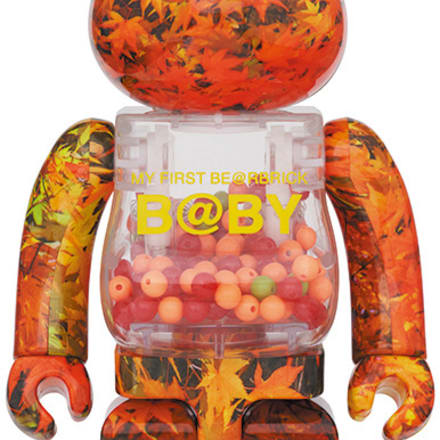 MY FIRST BE@RBRICK B@BY AUTUMN LEAVES Ver. 400% Image by BE@RBRICK TM & © 2001-2020 MEDICOM TOY CORPORATION. All rights reserved.