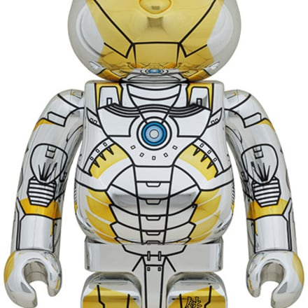 BE@RBRICK SORAYAMA IRON MAN 100% Image by © 2020 MARVEL BE@RBRICK TM & © 2001-2020 MEDICOM TOY CORPORATION. All rights reserved.