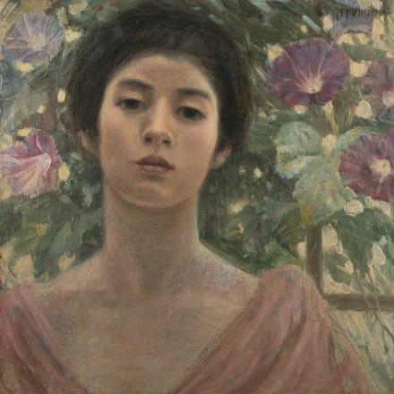 藤島武二《婦人と朝顔》明治37年、個人蔵、通期展示