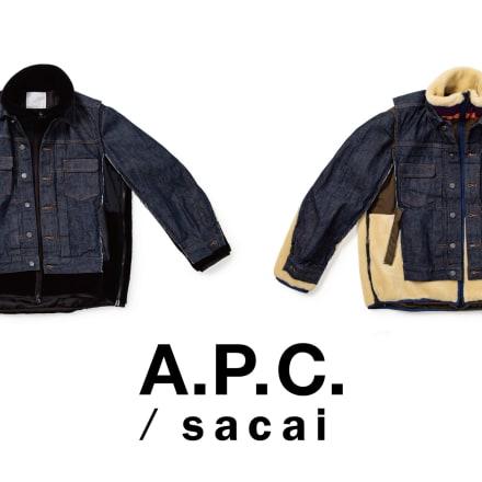 sacai x A.P.C(左からINDIGO × BLACK、INDIGO × ECRU)※公式オンラインストア限定