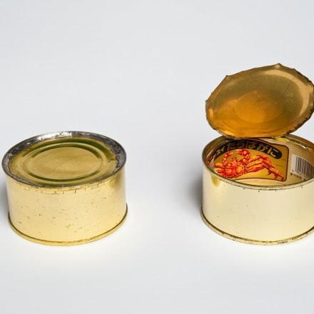 赤瀬川原平(1934〜2014)宇宙の罐詰 1964/1994 罐詰 4.5×8.6×8.6 cm