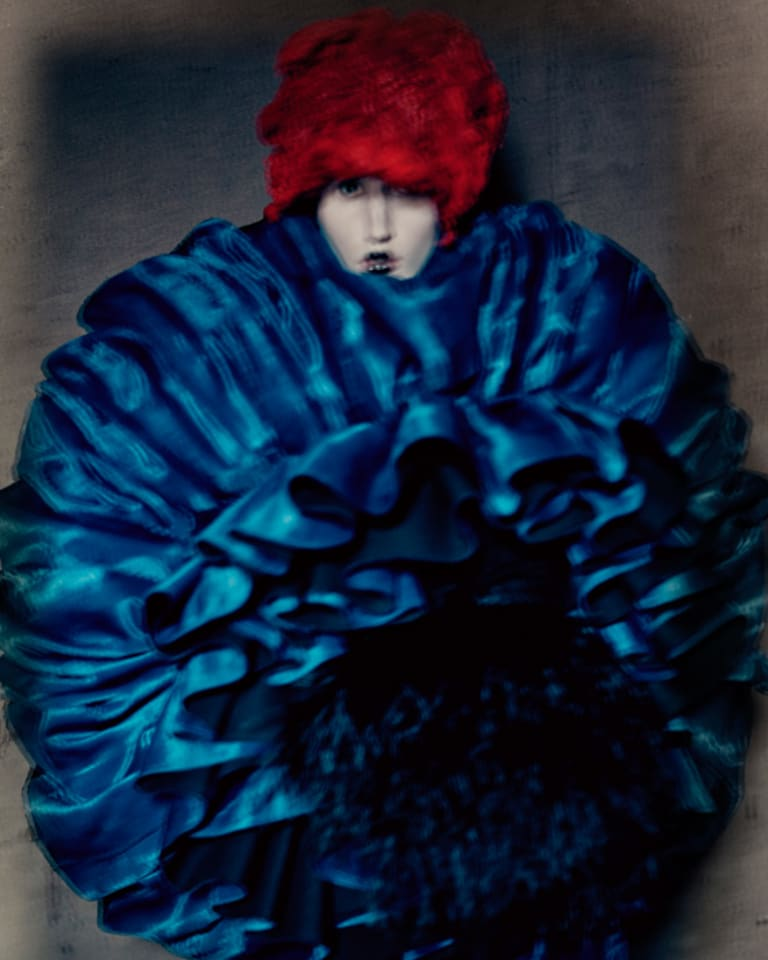 "Rei Kawakubo (Japanese, born 1942) for Comme des Garçons (Japanese, founded 1969), ""Blue Witch,"" spring/summer 2016"