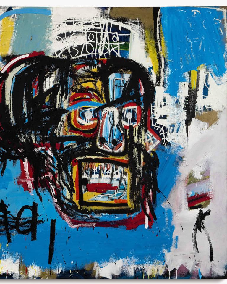 JEAN-MICHEL BASQUIAT UNTITLED, 1982 Acrylic, spray paint, and oilstick on canvas 183.2 × 173 cm Yusaku Maezawa Collection, Chiba, Japan © Estate of Jean-Michel Basquiat. Licensed by Artestar, New York