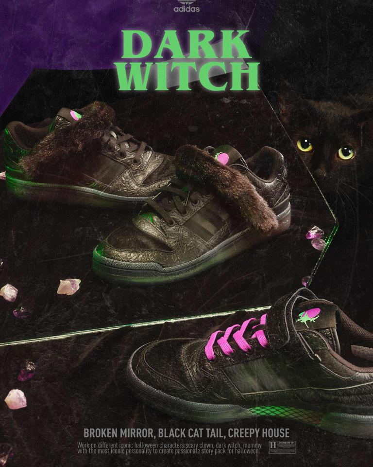 """adidas Originals Halloween 2020 FORUM LOW """"DARK WITCH""""(税別1万5400円)"""