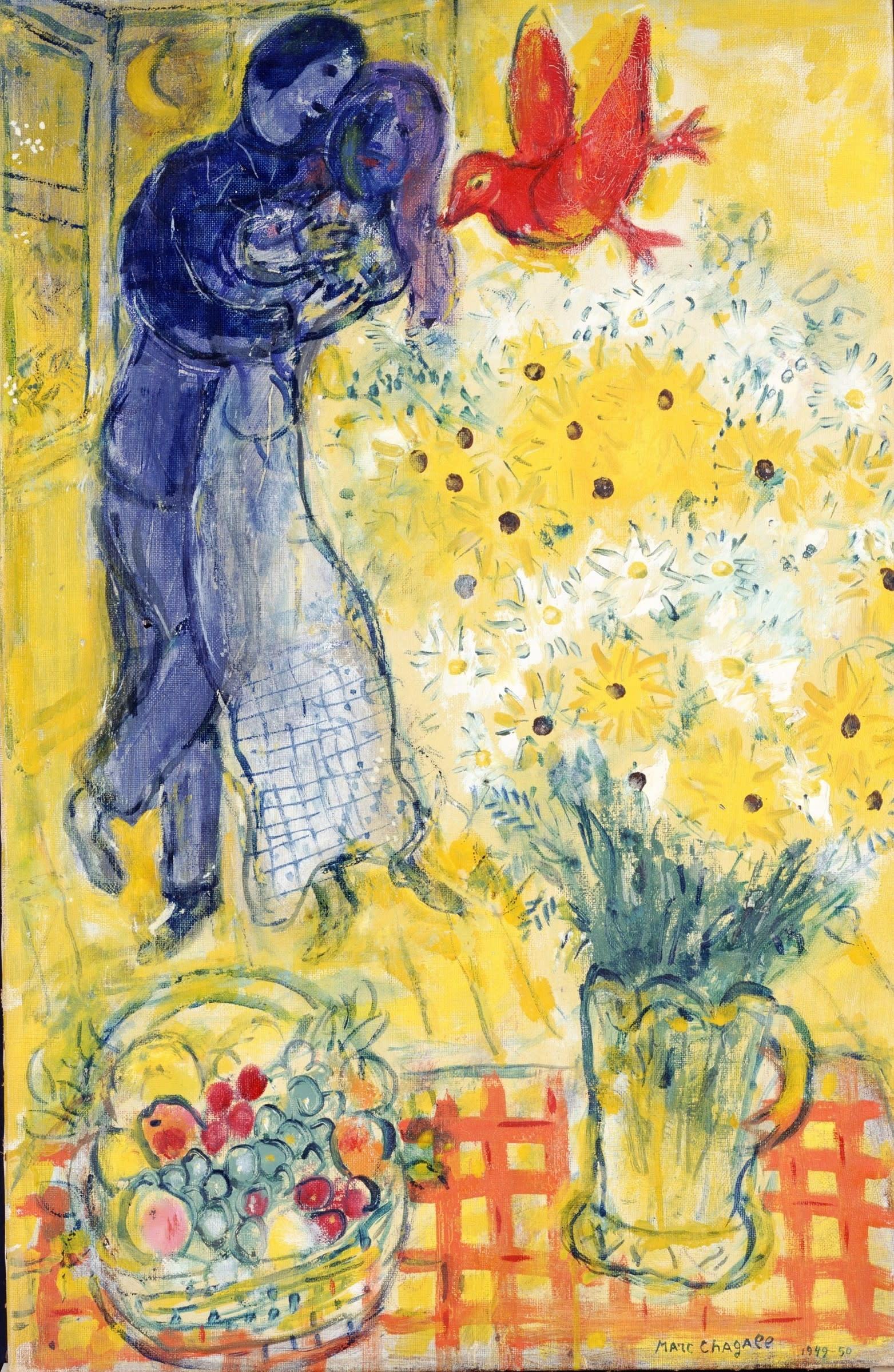 マルク・シャガールの展覧会開催、「恋人たちとマーガレットの花」など展示