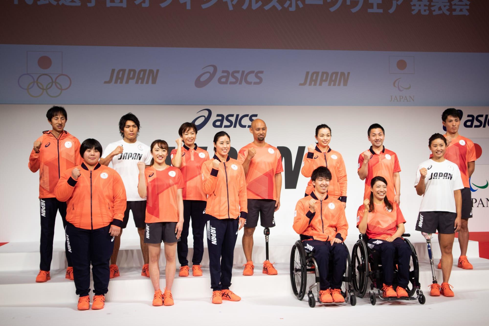 アシックス」東京五輪日本選手団オフィシャルスポーツウェア披露、日本 ...