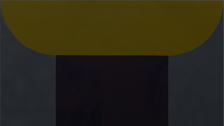 《スタック・スクエア》 2018年 油彩・麻 150×150cm