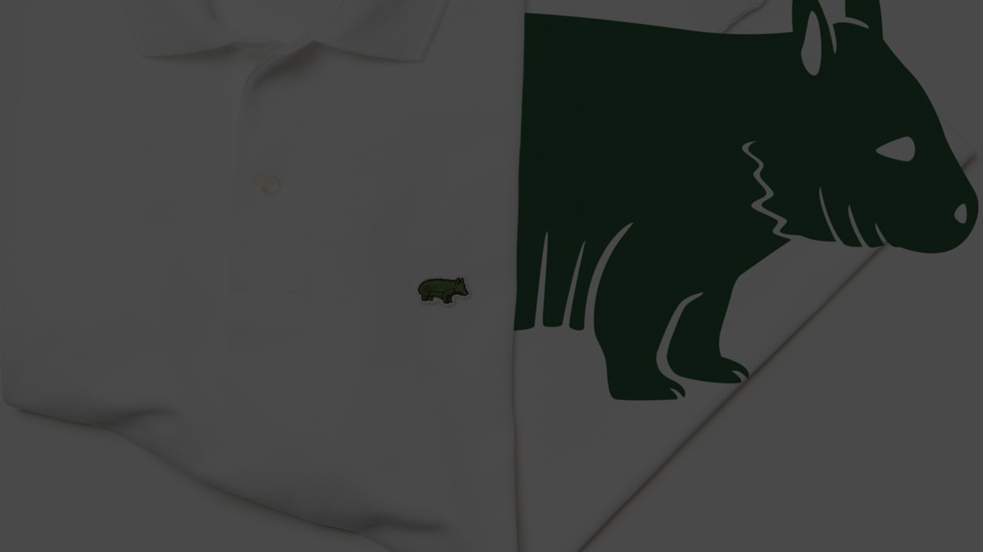 LACOSTE×SAVE OUR SPECIES(IUCN) ※キタケバナウォンバット