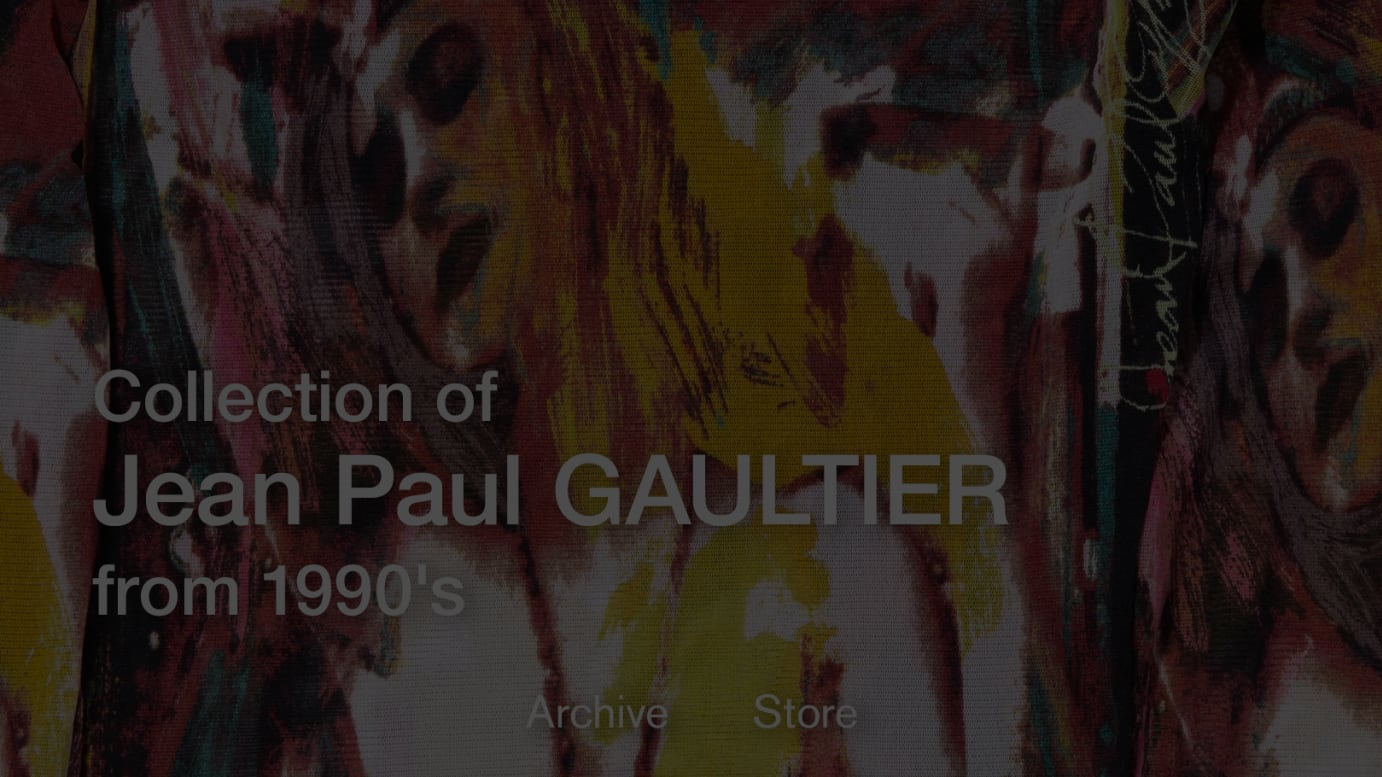 Collection of Jean Paul GAULTIER from 1990's