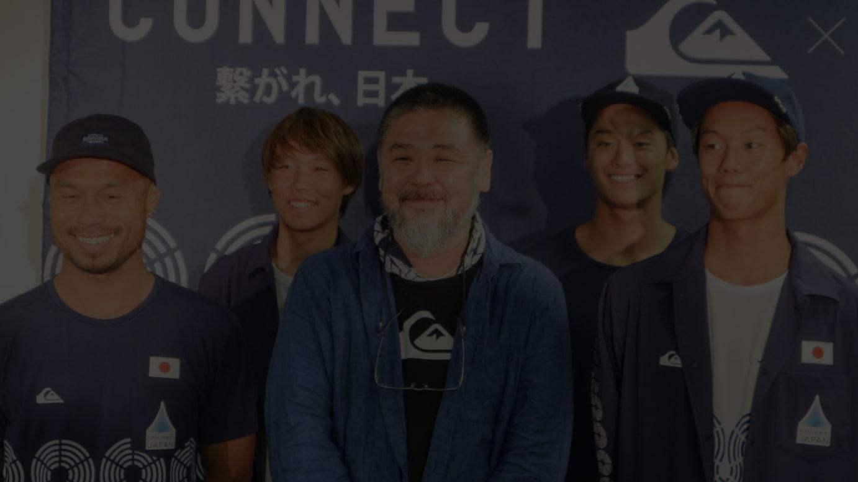 (左から)大野修聖選手、伊藤李安琉選手、野老朝雄、平原颯馬選手、上山キアヌ久里朱選手