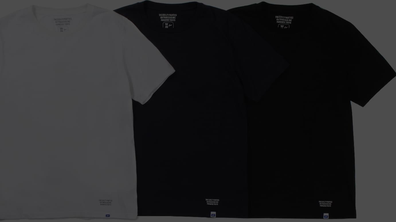 FRAGMENT × WACKO MARIA 3PACK-CREW NECK COLOR T-SHIRT