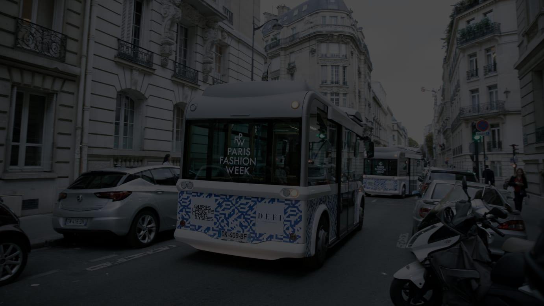 パリファッションウィーク公式のシャトルバス