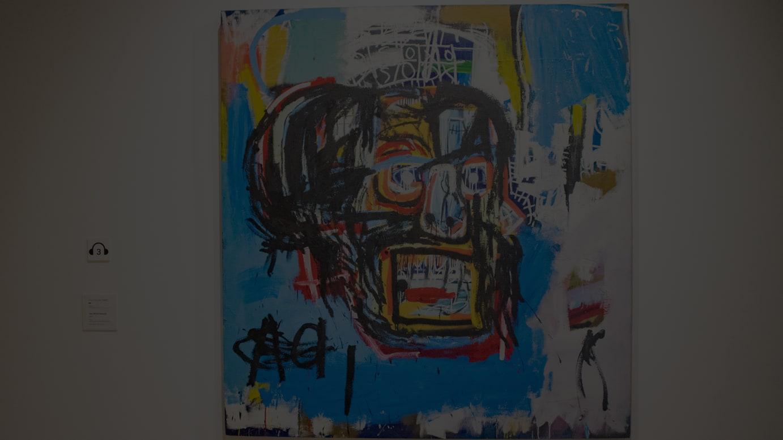 ジャン=ミシェル・バスキア Untitled,1982 oilstick,acrylic, spray paint on canvas 183.2×173cm Yusaku Mezawa Collection, Chiba Artwork©︎Estate of Jean-Michel Basquiat. Licensed by Artestar, New York