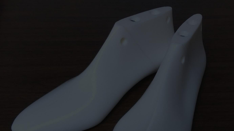 シュー・クラフト・ターミナルで作った靴型