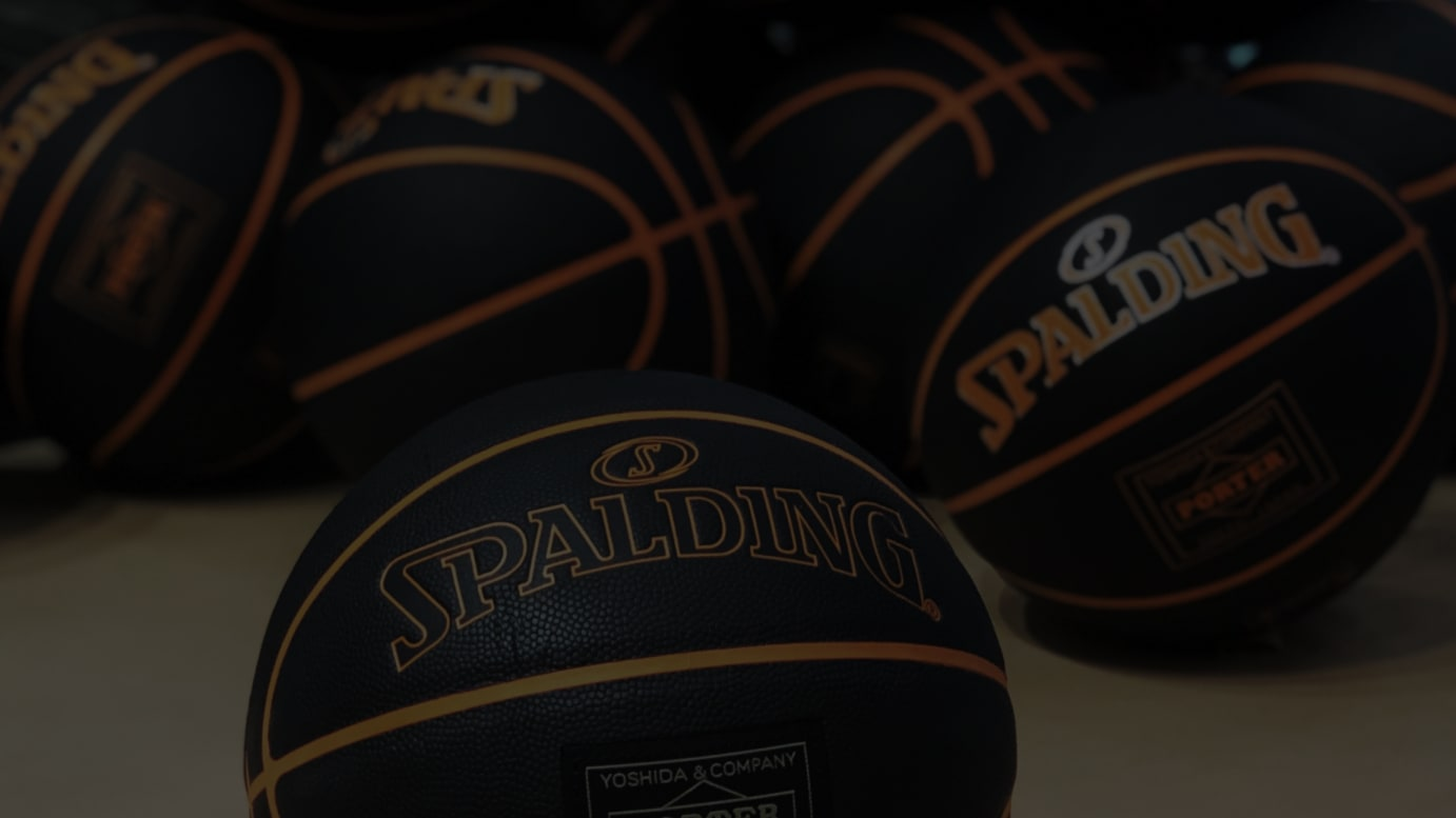 SPALDING x PORTER BASKETBALL BLACK(税込1万2,000円)