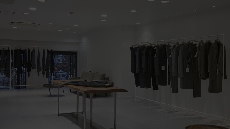 テイジンメンズショップ2階のブランドショップの様子