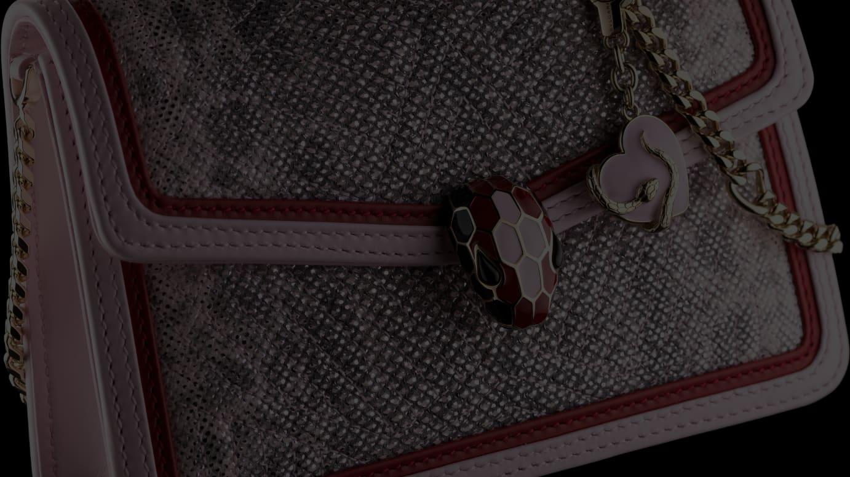 「マイクロクロスボディバッグ メタリックカルング/ ローザ・ディ・フランシア」(税別30万円)