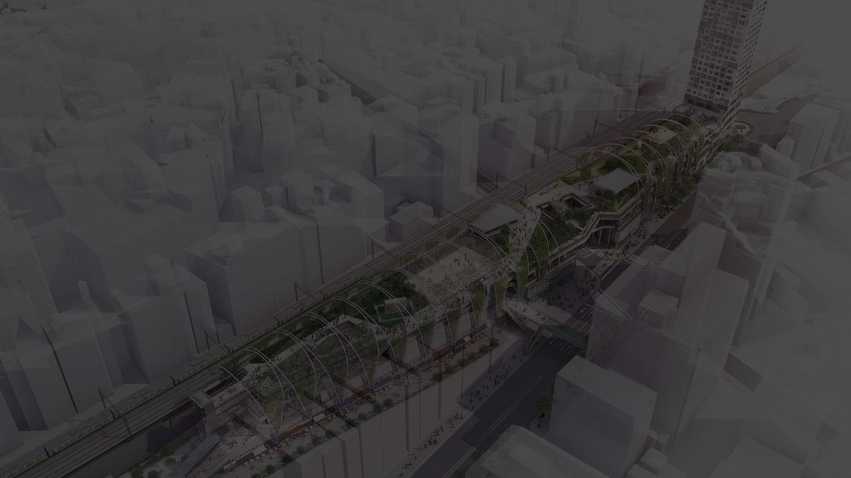 「MIYASHITA PARK」全体俯瞰図