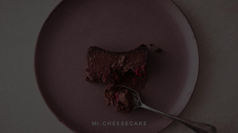 バレンタイン限定フレーバー「Mr. CHEESECAKE kuro Cacao Raspberry