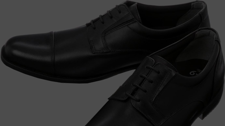 青山商事とミズノが共同企画した革靴「エクスライト」