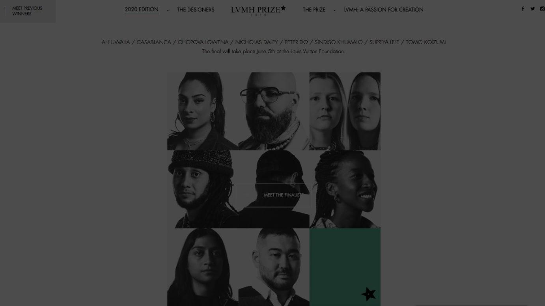 「LVMH Young Fashion Designers Prize 2020」ファイナリストたち LVMHプライズ公式サイトより