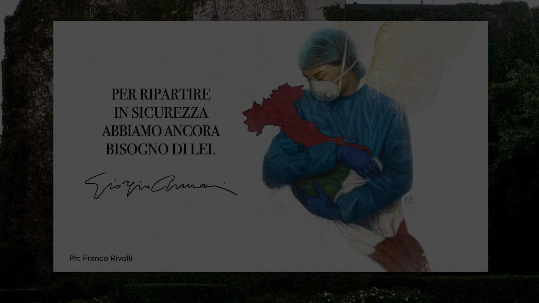 ミラノ・ブロレット通り(Via Broletto)の壁面広告