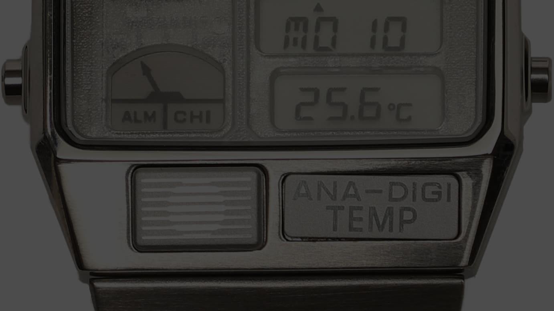 スケルトン ANA-DEGI TEMP アナデジ ウォッチ