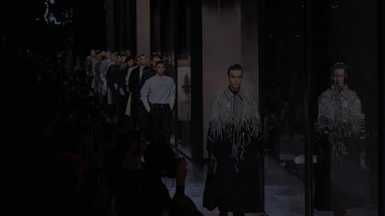 前シーズンのパリメンズファッションウィークで2020-21年ウィンターコレクションを発表した「ディオール」のショーより