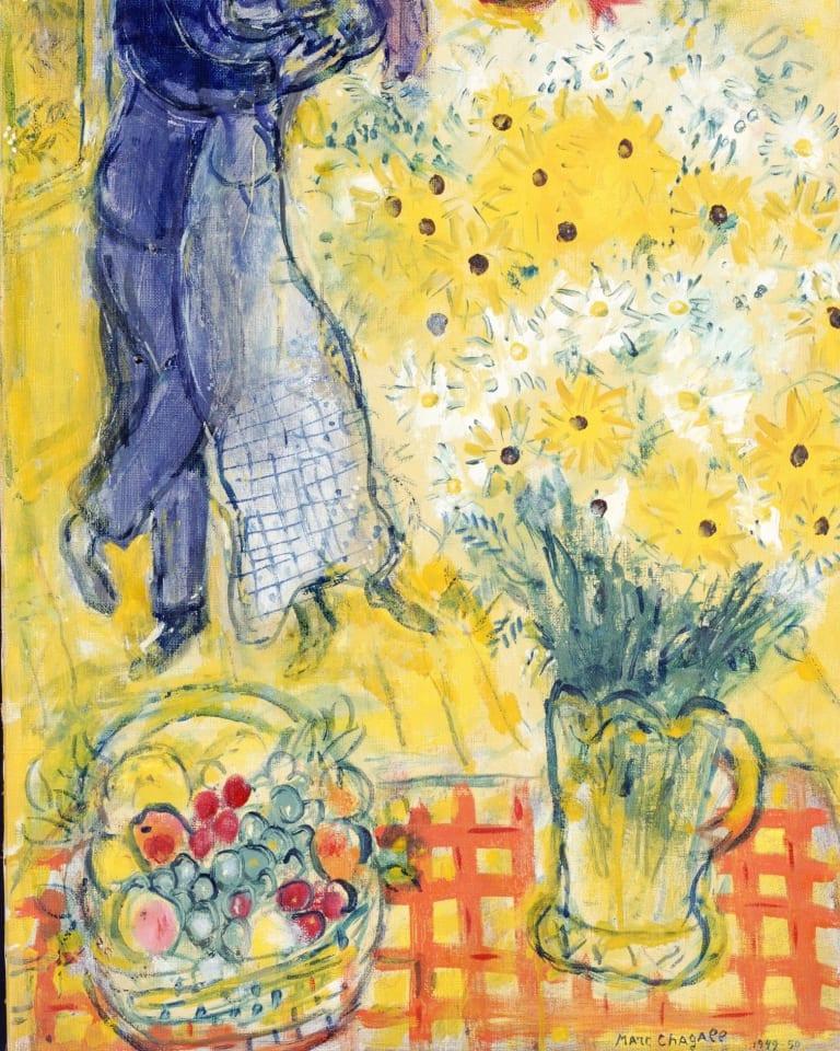 マルク・シャガール 《恋人たちとマーガレットの花》 1949-1950年 油彩/カンヴァス 73.0×46.9cm ポーラ美術館蔵 ©ADAGP,Paris&JASPAR,Tokyo,2019,Chagall® C3019マルク・シャガール 《恋人たちとマーガレットの花》 1949-1950年 油彩/カンヴァス 73.0×46.9cm ポーラ美術館蔵 ©ADAGP,Paris&JASPAR,Tokyo,2019,Chagall® C3019