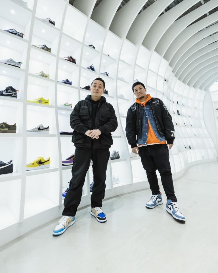 写真左から)atmos 小島奉文、mita sneakers 国井栄之